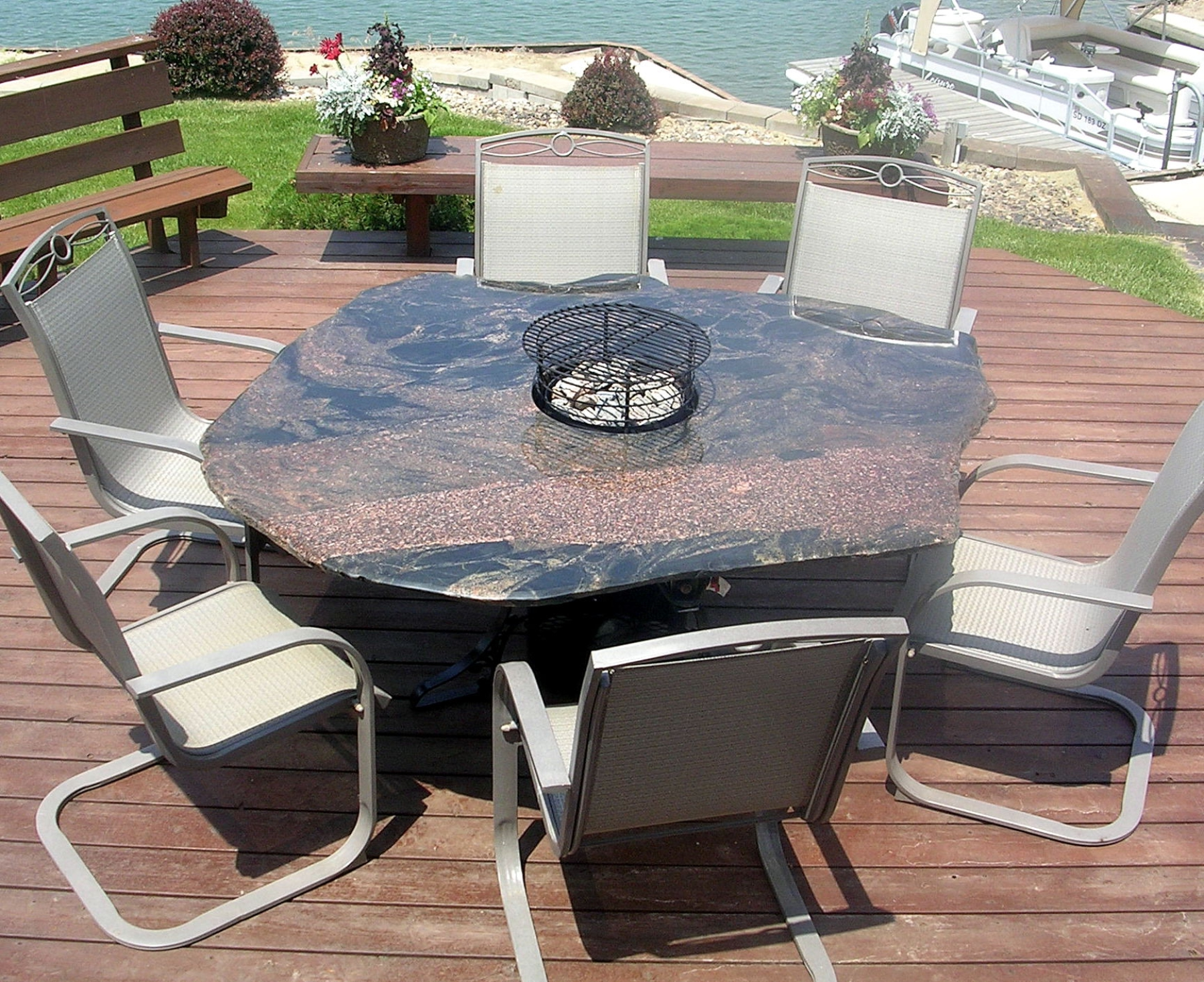 Rock Fire Pit Tables Made From Natural Stone Boulders 605 224 8089