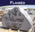 Flamed Finish