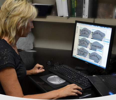 Nancy Gordon of Dakota Classique Rock- Using Computer Software To Design A Boulder Memorial
