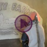 Sandblasting Stone Boulders To Make Signs and Memorials Video